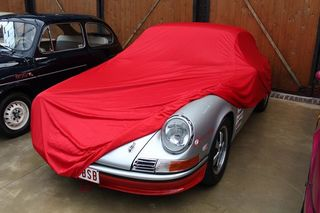 Car-Cover Satin Red für Porsche 912
