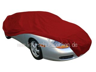 Car-Cover Satin Red für Porsche Boxster