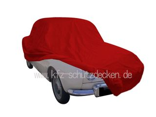 Car-Cover Satin Red für Renault Dauphine