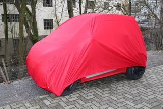 Indoor Car-Cover Satin Red für Smart ForTwo 2007–2015