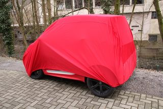 Indoor Car-Cover Satin Red für Smart ForTwo 2007?2015
