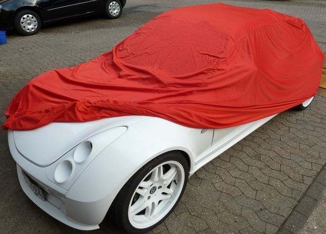 autoabdeckung vollgarage car cover samt red f r smart. Black Bedroom Furniture Sets. Home Design Ideas