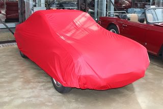 Car-Cover Satin Red für Triumph Spitfire