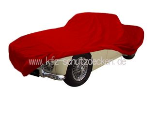 Car-Cover Samt Red for Triumph TR3