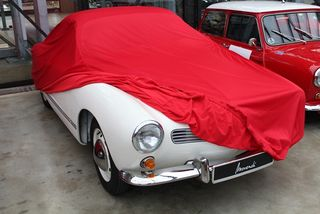 Car-Cover Satin Red für VW Karmann Ghia