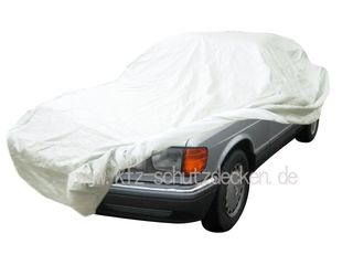 Car-Cover Satin White für Mercedes S-Klasse W126 Kurz