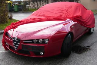 Car-Cover Satin Red für Alfa Romeo Spider ab 2006