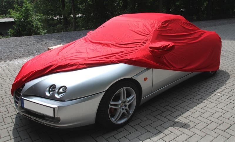 Autoabdeckung Vollgarage CarCover Samt Red Mit Spiegeltasche Für - Alfa romeo spider car cover