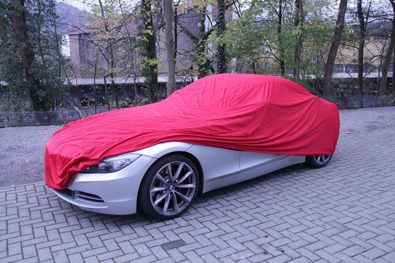 Autoabdeckung Vollgarage Car Cover Samt Red F 252 R Bmw Z4
