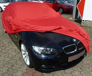 Car-Cover Samt Red with Mirror Bags for BMW 3er (E93)