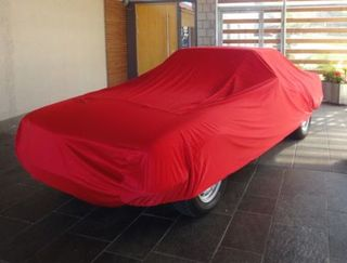 Car-Cover Satin Red für Mercedes SLC Coupe W107