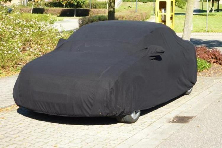 car cover satin black mit spiegeltasche f r audi a4 cabrio. Black Bedroom Furniture Sets. Home Design Ideas