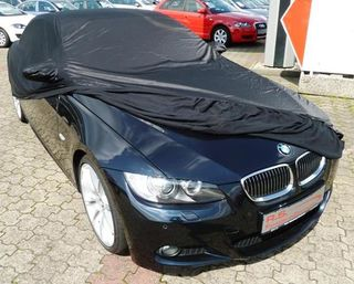 Car-Cover Satin Black with mirror pockets for BMW 3er (E93)