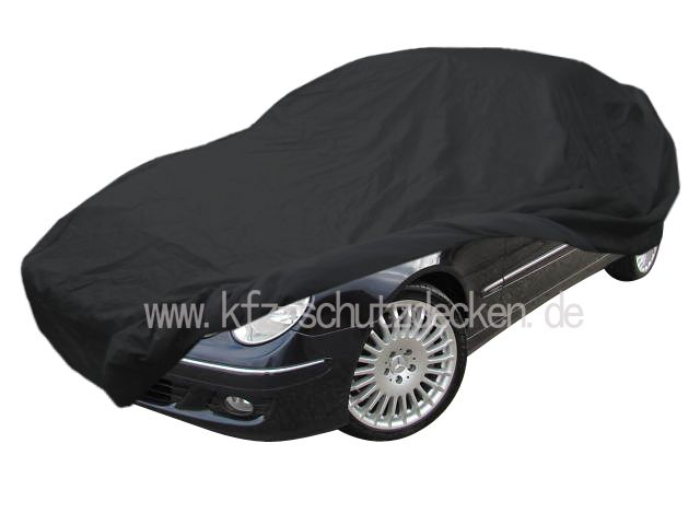 car cover satin black mit spiegeltasche f r mercedes clk. Black Bedroom Furniture Sets. Home Design Ideas