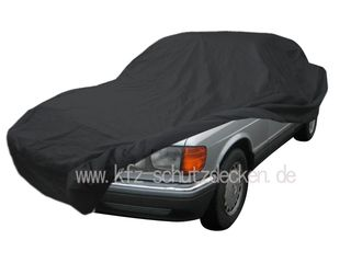 Car-Cover Satin Black with mirror pockets for Mercedes...
