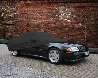 Car-Cover Satin Black with mirror pockets for Mercedes SL...