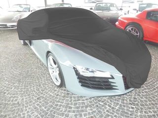 Car-Cover Satin Black with mirror pockets for Audi R8
