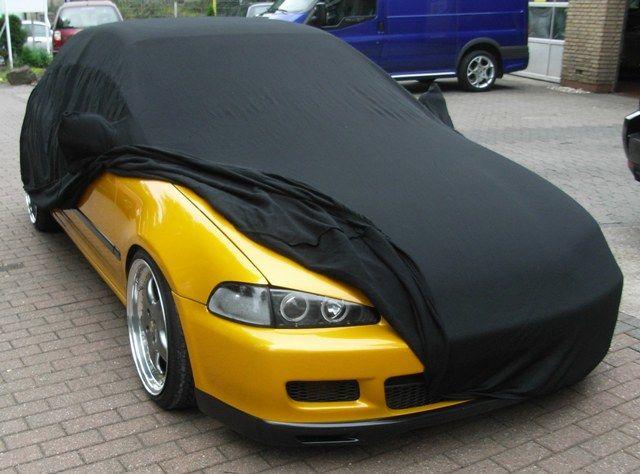 car cover satin black mit spiegeltaschen f r honda civic. Black Bedroom Furniture Sets. Home Design Ideas