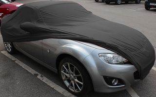 Car-Cover Satin Black with mirror pockets for Mazda MX 5 NC