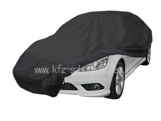 Car-Cover Satin Black with mirror pockets for Mercedes CLC