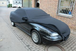 Car-Cover Satin Black with mirror pockets for Opel Calibra