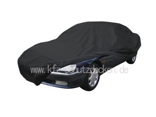 Car-Cover Satin Black with mirror pockets for Peugeot 605