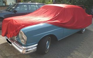 Car-Cover Satin Red für Mercedes Heckflosse W112