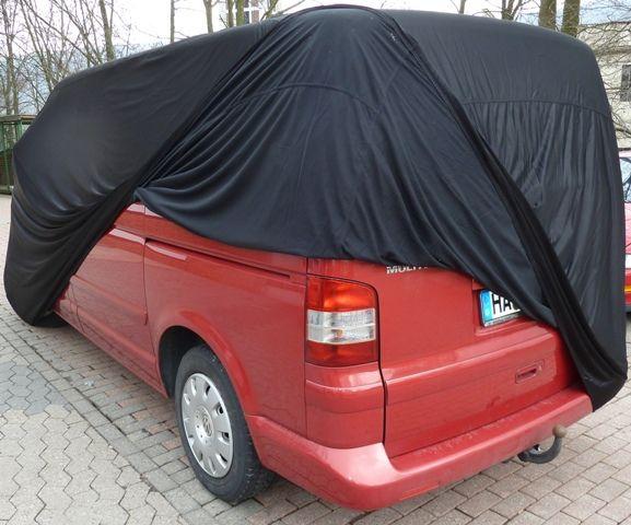 car cover satin black f r vw bus t5 kurz. Black Bedroom Furniture Sets. Home Design Ideas