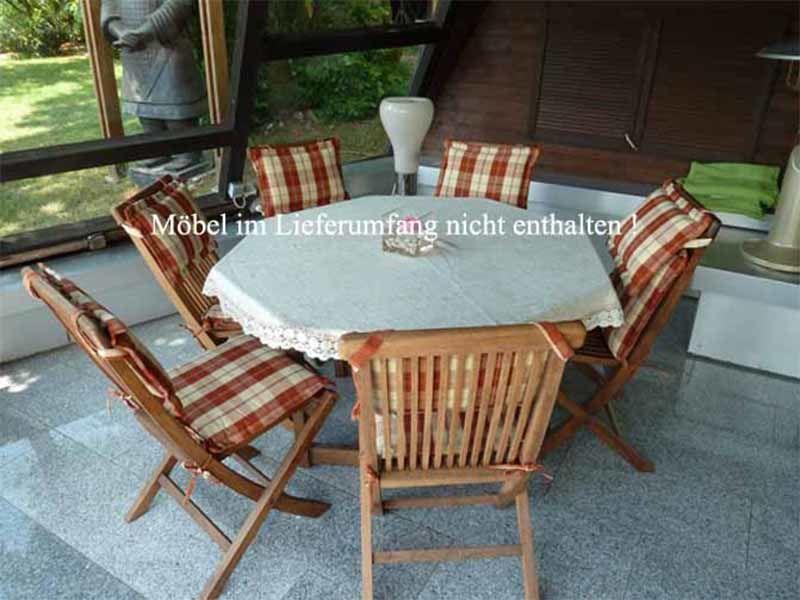 schutzh lle f r runden 8 eckigen gartentisch mit st hlen. Black Bedroom Furniture Sets. Home Design Ideas