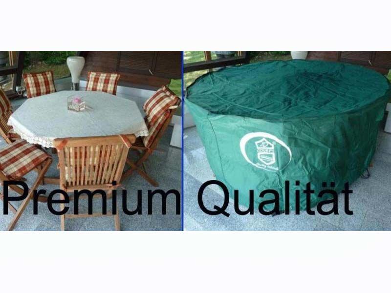 schutzh lle f r runden 8 eckigen gartentisch mit st hlen 250x90. Black Bedroom Furniture Sets. Home Design Ideas