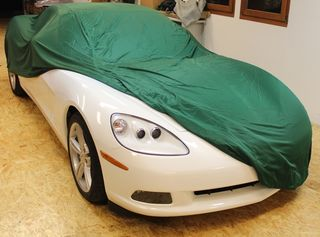 Car-Cover Satin Grün für Chevrolet Corvette C6