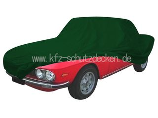 Car-Cover Satin Grün für Lancia Fulvia Coupé