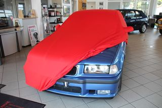 Red AD-Cover ® Mikrokontur with mirror pockets for BMW...