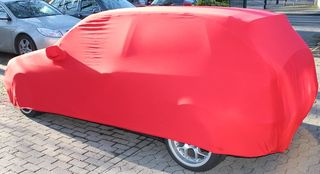 Red AD-Cover ® Mikrokontur with mirror pockets for VW...