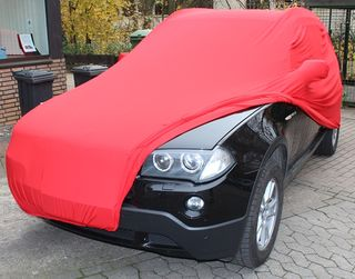 Red AD-Cover ® Mikrokontur with mirror pockets for BMW X3...