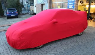 Red AD-Cover ® Mikrokontur with mirror pockets for Subaru...