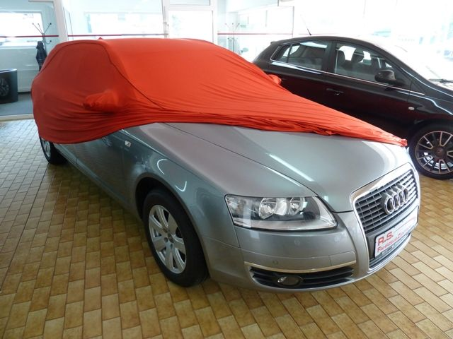 Vollgarage mikrokontur rot mit spiegeltaschen f r audi a6 for Audi a6 breite mit spiegel