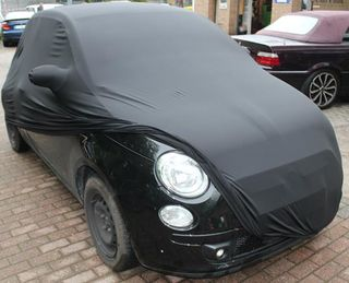 Black AD-Cover ® Mikrokuntur with mirror pockets for Fiat...