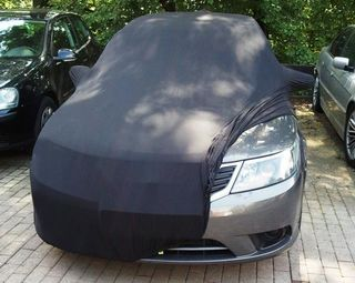 Black AD-Cover ® Mikrokuntur with mirror pockets for Saab...
