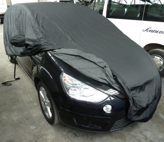 car cover satin black mit spiegeltaschen f r ford s max. Black Bedroom Furniture Sets. Home Design Ideas