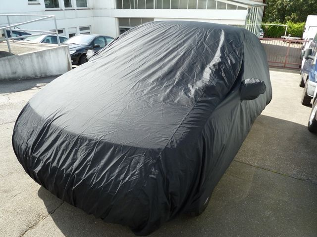 car cover satin black mit spiegeltaschen f r renault grand. Black Bedroom Furniture Sets. Home Design Ideas