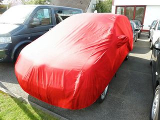 Car-Cover Samt Red with Mirror Bags for  Toyota Verso