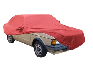 Car-Cover Samt Red with Mirror Bags for VW Jetta 1979-1984