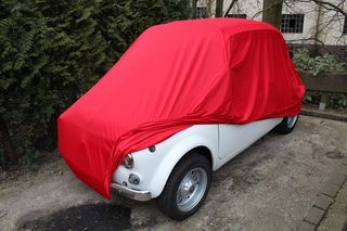 Car-Cover Satin Red für Fiat 500
