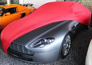 Red AD-Cover ®Mikrokontur with mirror pockets for  Aston...