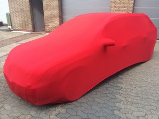 Red AD-Cover ® Stretch with mirror pockets for  Opel Signum