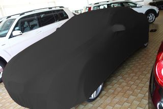 Black AD-Cover ® Stretch with mirror pockets for  BMW 6er...
