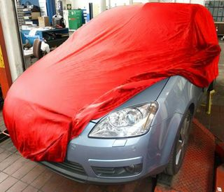 Car-Cover Samt Red with Mirror Bags for Ford C-Max