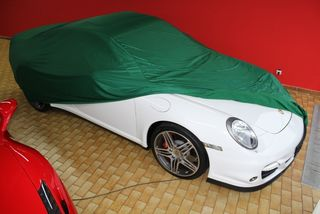 Car-Cover Satin Green for Porsche 997 Turbo