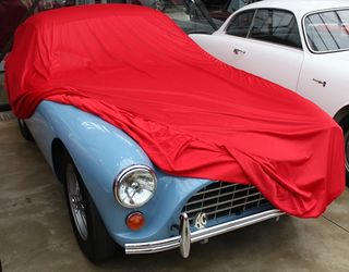 Car-Cover Samt Red for  AC Aceca Bristol